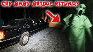 THE CRY BABY BRIDGE RITUAL ON THE HAUNTED CRY BABY BRIDGE! | MOE SARGI