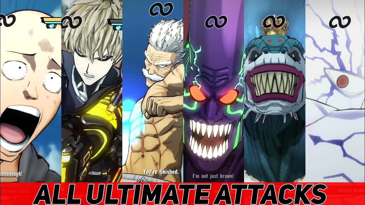 One Punch Man: A Hero Nobody Knows - All Characters ULTIMATE & SPECIAL Attacks
