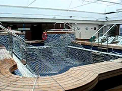 Queen mary 2 pavilion pool sloshing youtube - Queen mary swimming pool victoria ...