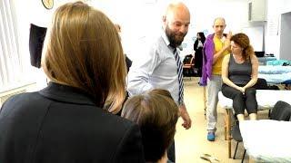 Видеозарисовка практики на программе обучения остеопатии ISOM
