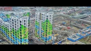 Ход строительства 1 и 2 очереди ЖК Светлый мир Жизнь   ноябрь 2018