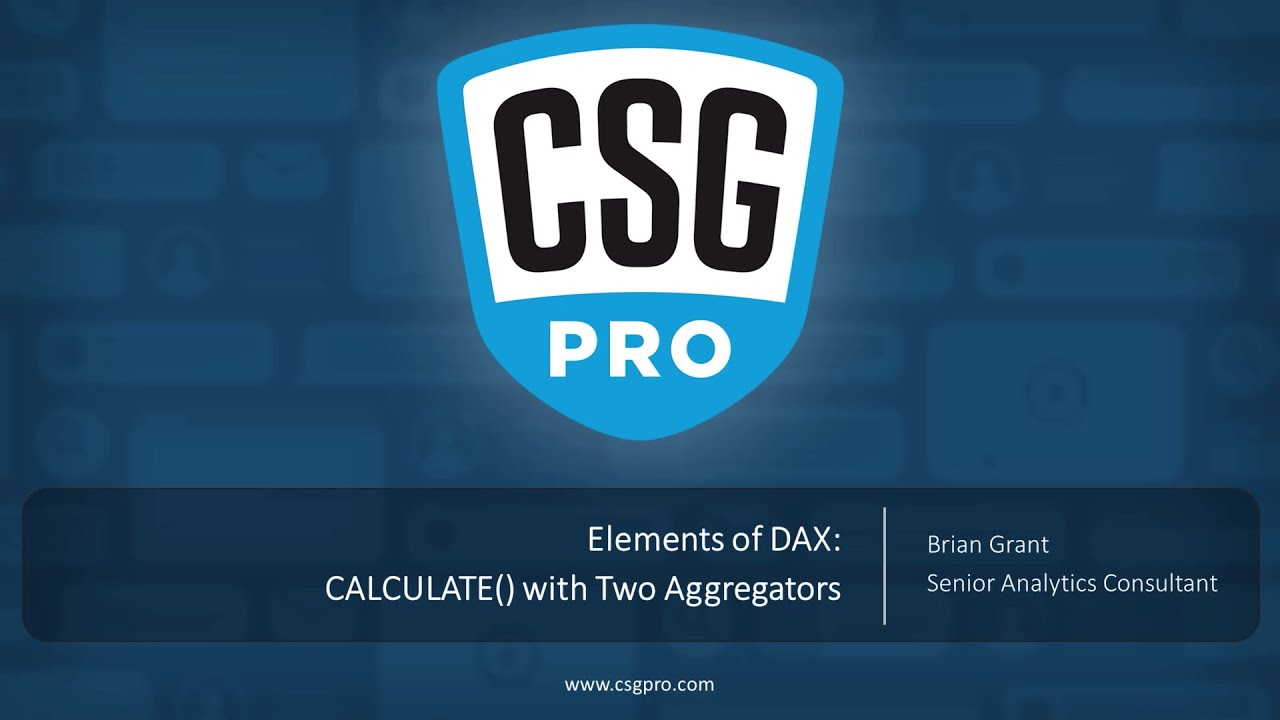 Elements of DAX 06-17 CALCULATE() With Two Aggregators