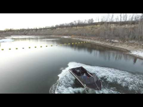 Firefish Industries Ltd. Testing Jetboat On The Lower Red Deer River.