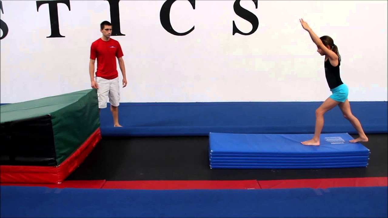 Ps Track Power Hurdle Round Off Bounce Back Drill 4 Youtube