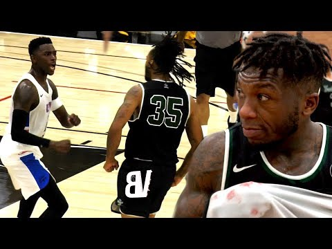 Nate Robinson VS Drew League MVP Gets HEATED! Hands Almost Thrown, Gets Bloody & Physical at Drew!