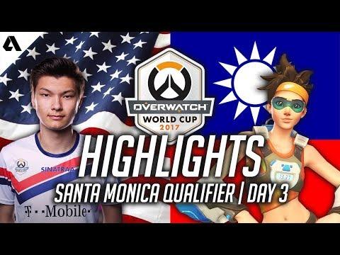 Overwatch Gameplay - USA VS Chinese Taipei ft Sinatraa Tracer & Genji   Overwatch World Cup 2017