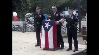San Juan Bautista parade flag raising ceremony - Camden