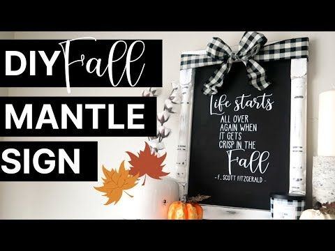 DIY Fall Farmhouse Wood Sign | F. Scott Fitzgerald Quote