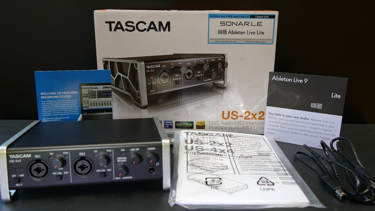 Tascam US-2x2, US-4x4 & US-16-08 - AES 2014 - YouTube