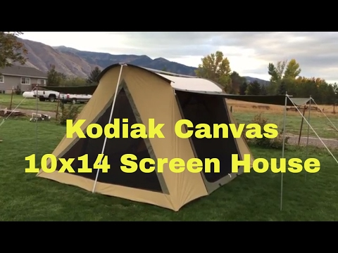 brand new 6ac71 cf564 Kodiak Canvas 6714 10x14 Screen House Tent - YouTube