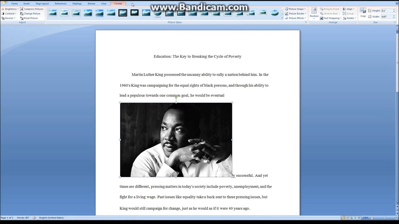 How To Insert A Picture Into Microsoft Word Without Messing Up The Format