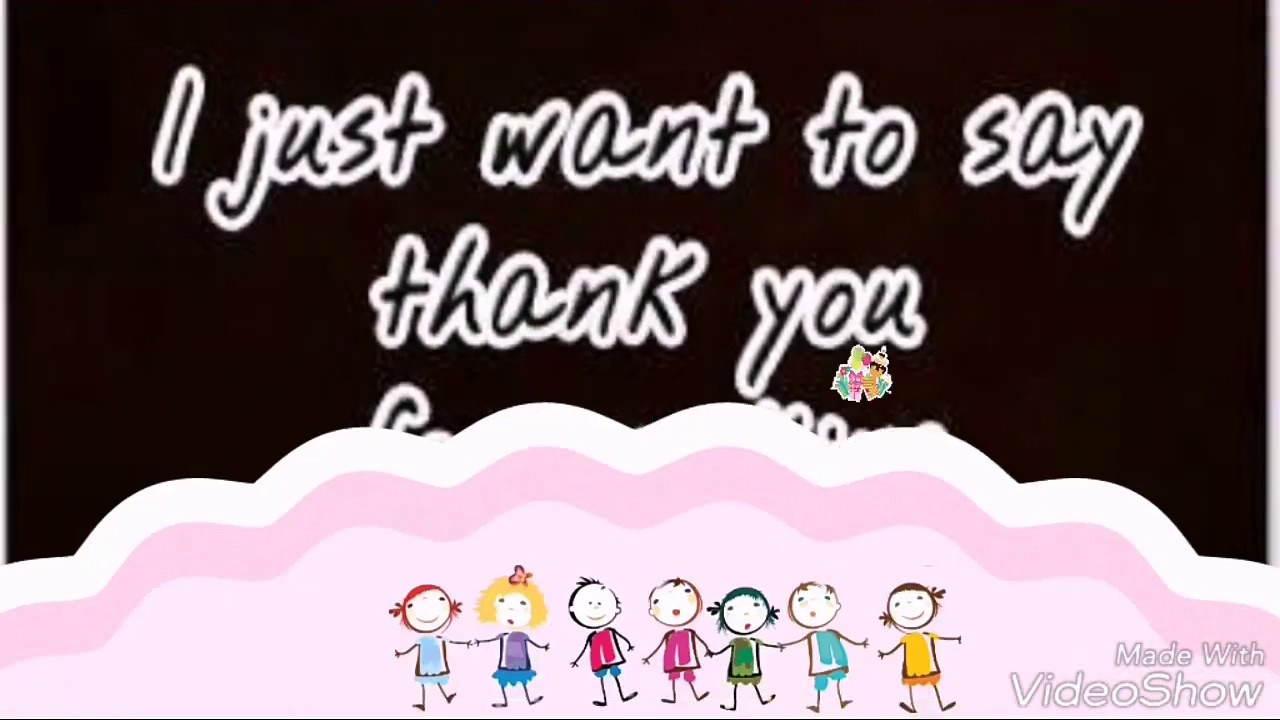 I just want to say thank you for making my birthday special youtube i just want to say thank you for making my birthday special kristyandbryce Choice Image