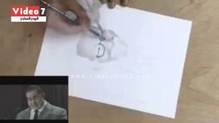 """بالفيديو والصور.. أحمد حلمى يعرض مواهب محبيه فى رسمه على """"تويتر"""""""