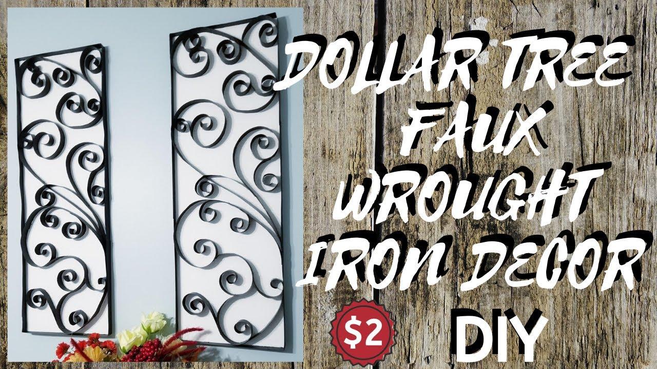 Diy Dollar Tree Faux Wrought Iron Wall
