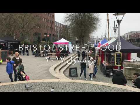 Weekend street food market at Bristol harbour
