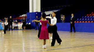 Бальные танцы, Победители(Дети 1,открыт. класс) Доминик Дейнега и Лилия Ли