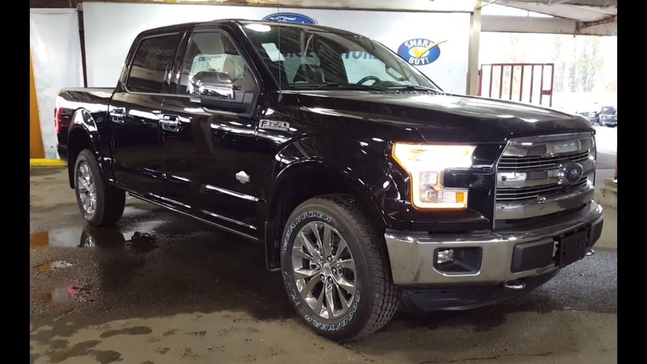2016 black ford f 150 4x4 supercrew king ranch fx4 review. Black Bedroom Furniture Sets. Home Design Ideas