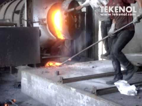 Copper Reverberatory Furnace Anode Casting - YouTube