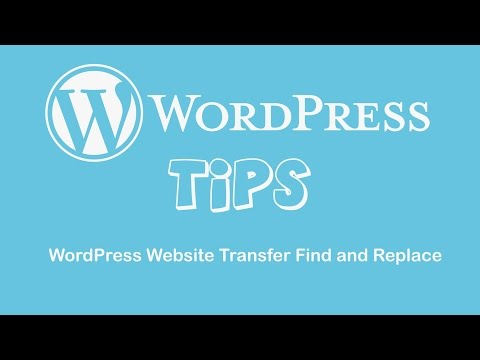 WordPress Website Transfer Find and Replace