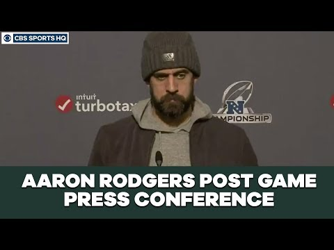 Aaron Rodgers Post Game Press Conference: NFC Championship  CBS Sports HQ