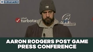 Aaron Rodgers Post Game Press Conference: NFC Championship | CBS Sports HQ