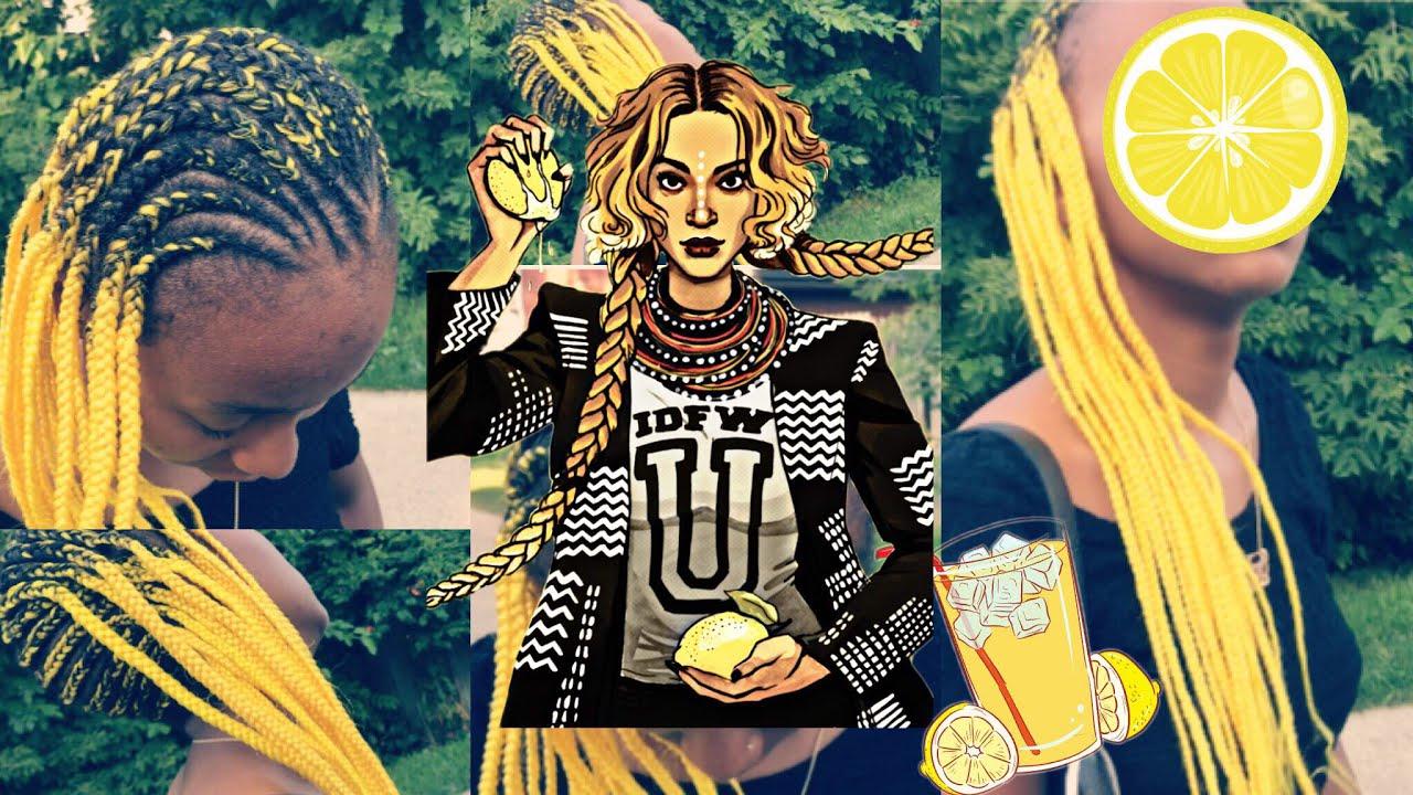 Lemonade Braids Tutorial Beyonce Inspired On Short Hair