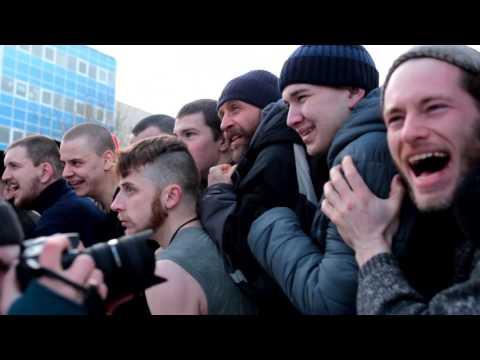 славянская мужская забава  Масленница Екатеринбург 2017 год