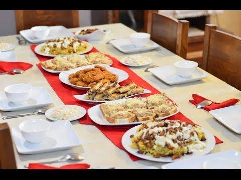 376edd38b اقتراح سفرة 8 لعزومة فخمة أو سفرة رمضانية - YouTube