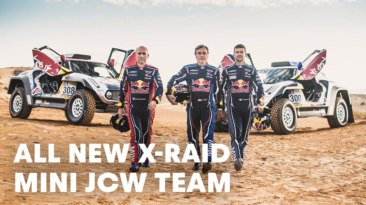 get revved up with the new x raid mini jcw team dakar rally 2019 youtube. Black Bedroom Furniture Sets. Home Design Ideas