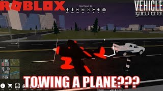 Can TOW TRUCK Pull a PLANE??? | Roblox Vehicle Simulator