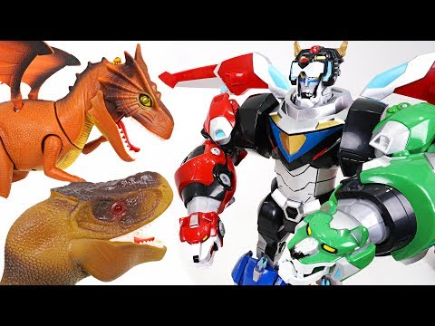 Five lion combined! Voltron Legendary Defender! Defeat dinosaur and dragon (Golion) - DuDuPopTOY