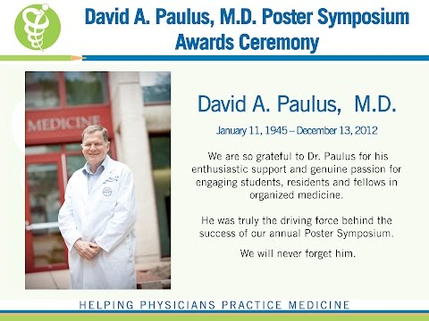 David A. Paulus, M.D. Poster Symposium Awards Recognition
