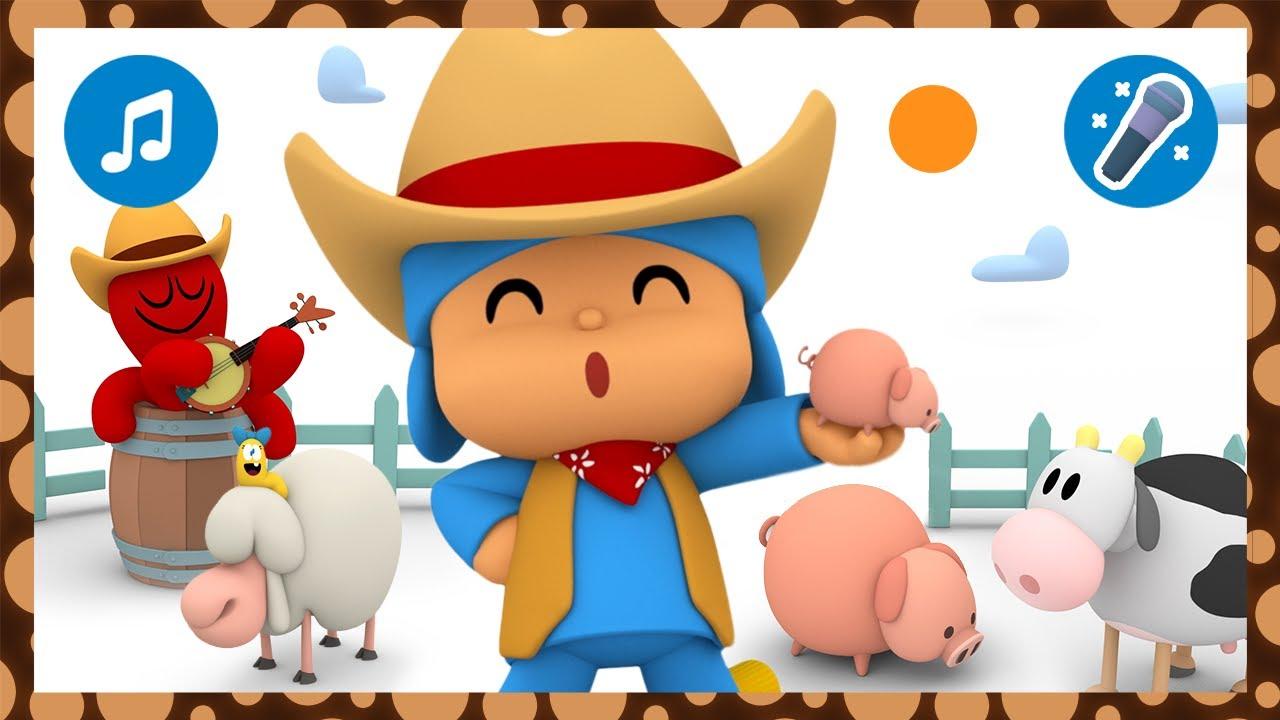 🎤 Old MacDonald Had A Farm | Karaoke + Nursery Rhymes & Baby Songs - Pocoyo