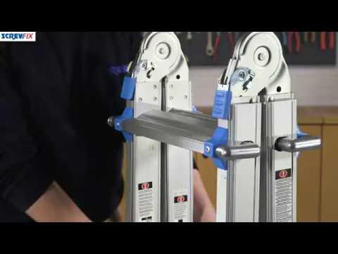 MULTIPURPOSE TELESCOPIC LADDER 4-SECTION 16 RUNGS 2 15M   Screwfix