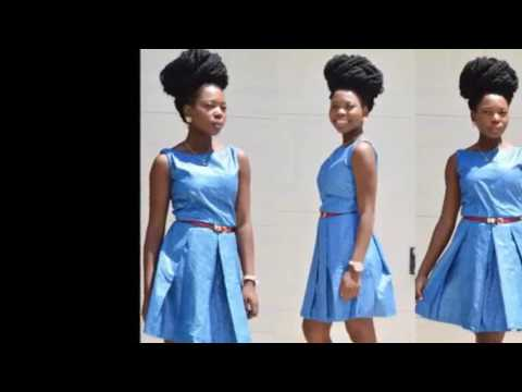 African Colorfull Trendy Mini Dress Styles - Blue Color
