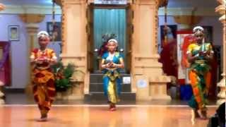 A semi classical dance performance at Sree Rajarajeshwari Temple, Dattapeetham, Trinidad