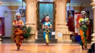 A semi classical dance performance at Sree Rajarajeshwari Temple, Dattapeetham, Trinidad