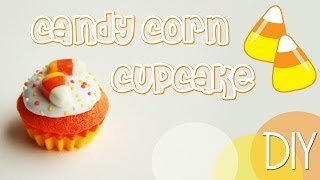 Polymer Clay Candy Corn Cupcake Tutorial | Cupcakes Project Part 7
