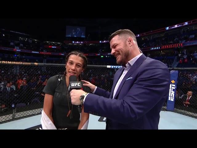 UFC Tampa: Joanna Jedrzejczyk and Michelle Waterson Octagon Interview