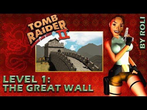 Tomb Raider 2 (1997) - Level 1: The Great Wall Walkthrough