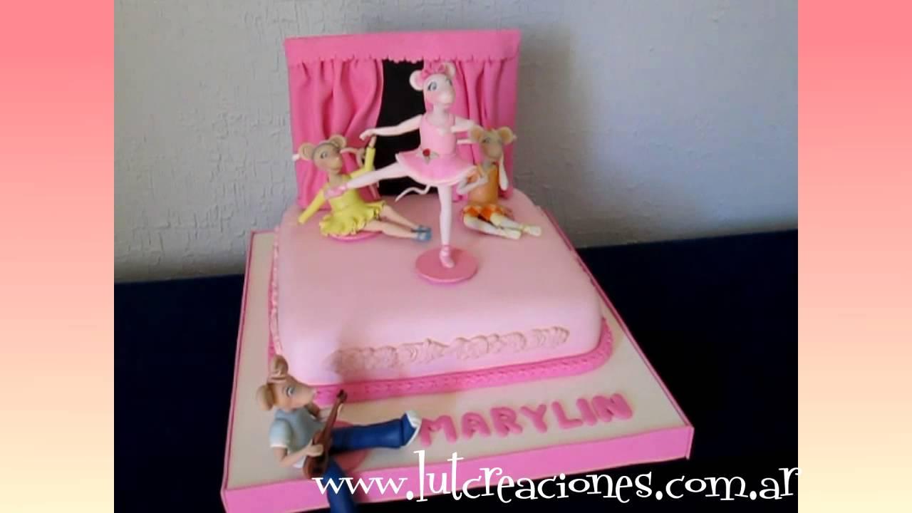 Torta Decorada Angelina la Bailarina - Lut Creaciones Tortas ...