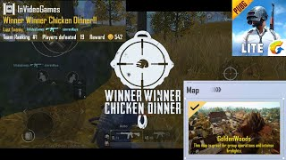 Golden Woods - Chicken Dinner - PUBG Mobile Lite - 19 Kills New Update 0.14 Gameplay