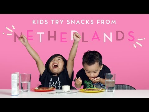Snacks from the Netherlands | Kids Try | HiHo Kids