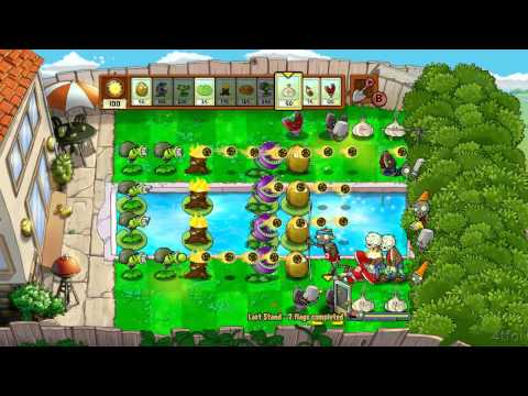 Plants Vs Zombies Xbox 360 Last Stand Minigame