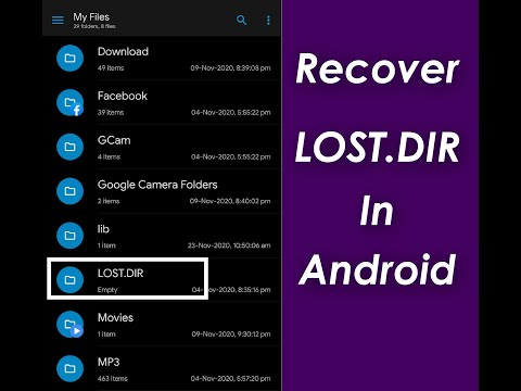 How To Recover Lost Files From LOST DIR Folder ( No Root )