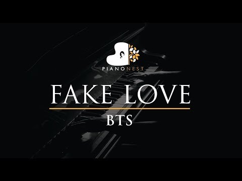BTS - FAKE LOVE - Piano Karaoke / Sing Along / Cover With Lyrics - 방탄소년단