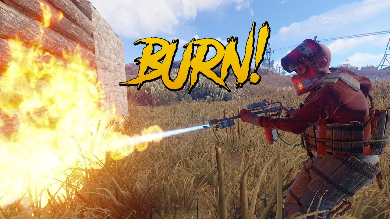 how to get flame thrower blueprint rust