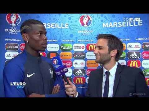 Germany 0-2 France Paul Pogba Funny Interview After Match Euro 2016 Semi-Final HD