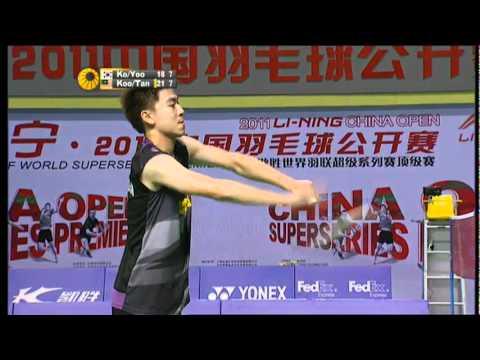 QF - MD - Ko S.H./Yoo Y.S. vs Koo K.K./Tan B.H. - Li Ning China Open 2011
