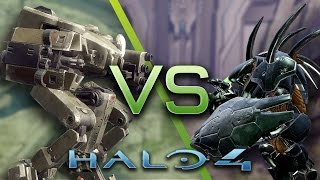 Halo 4 - AI Battle - Mantis vs Hunters